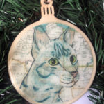 Egyptian Mau Cat Wooden Christmas Ornament