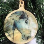 Percheron Horse Wooden Christmas Ornament