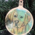 Labrador Retriever Wooden Christmas Ornament