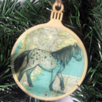 Falabella Horse Wooden Christmas Ornament