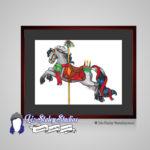 Yule Carousel Horse, Christmas Horse Art Print