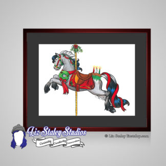Christmas Carousel Horse art