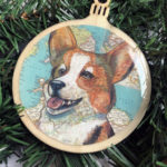 Welsh Corgi Wooden Christmas Ornament