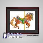 Samhain Carousel, Wheel of the Year Art, Halloween Horse